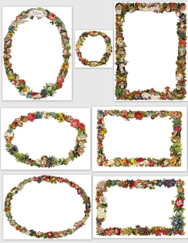 Etiquettes fleurs anciennes